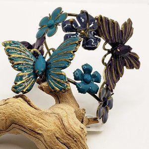 Icing Enameled flowers butterflies statement brace